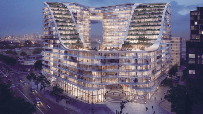 Crown's award-winning Green Square project Infinity