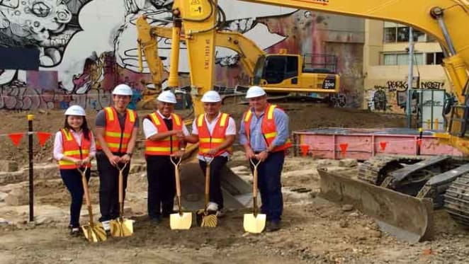 Construction starts on Conservatory, an apartment project with archaeological twist