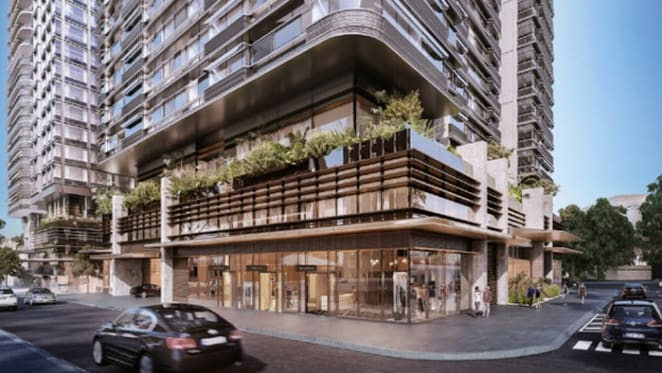 Duo construction begins at Central Park, Chippendale