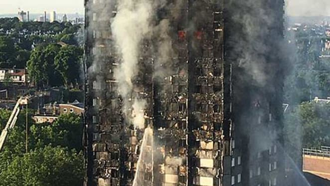 London apartment tower fire and possible issues in Australia