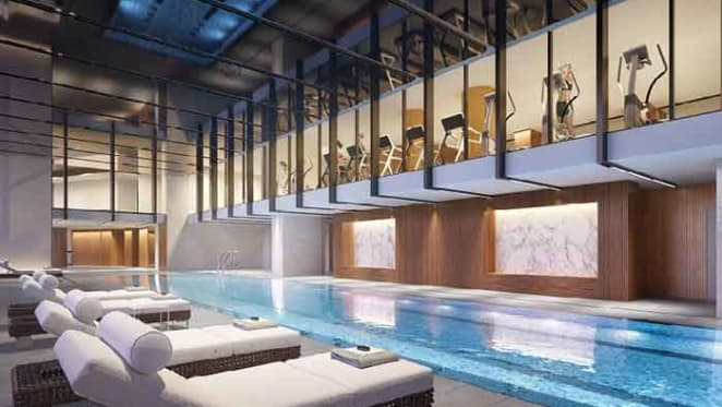 Swimming pool at Lendlease project growing concierge culture converts CBD apartment buyers
