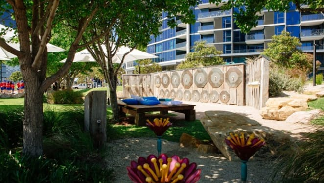 Mirvac unveils Melbourne's first interactive musical playground at Yarra's edge