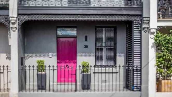 Jarryd Hayne lists pink Paddington terrace
