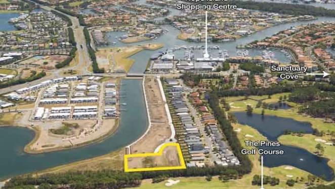 Development site at Hope Island for auction