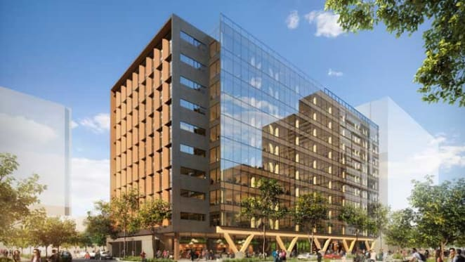Construction starts on world's tallest engineered timber office building in Brisbane