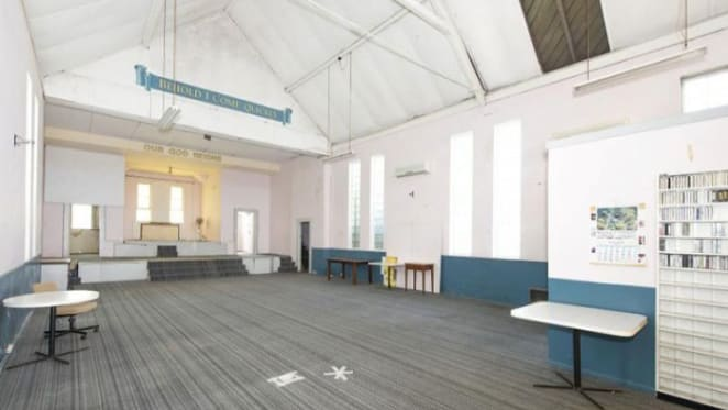 Empty Newtown warehouse church for July auction