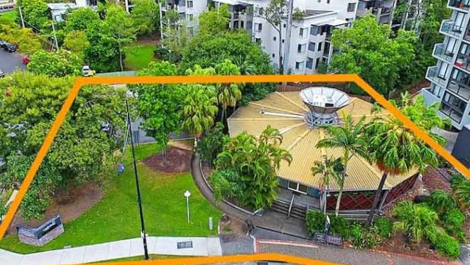 Modernist flying saucer Toowong commercial trophy property for sale