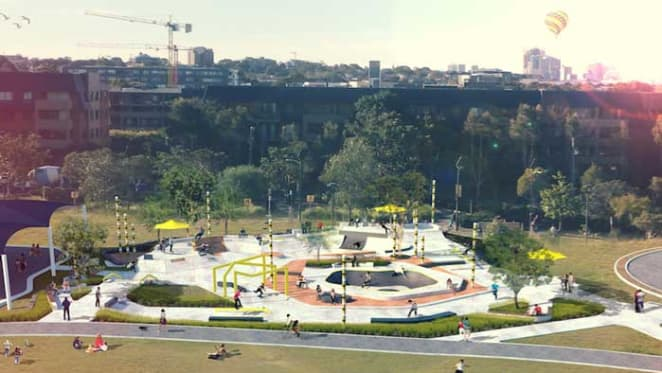 New skate space proposed for Sydney Park