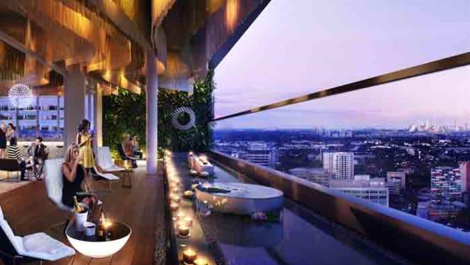 Sky-high cocktail bar atop V by Crown's Parramatta development