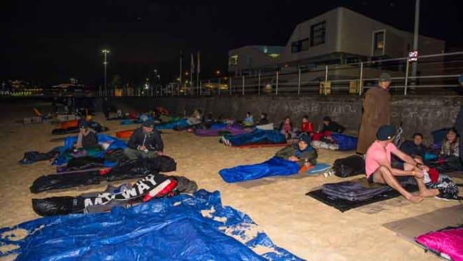 Estate agent Bondi Beach sleepout raises $130,000 for YOTS