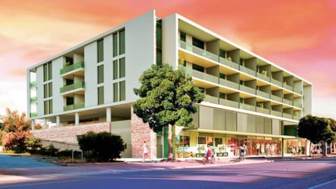 South Australia's first timber apartment building under construction