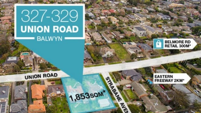 Townhouse development site in Melbourne's Balwyn fetches $4.05 million at auction