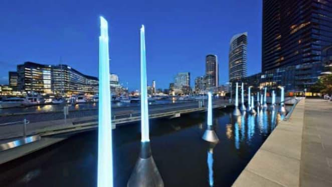 Light Buoys artwork illuminates Yarra's Edge, Docklands