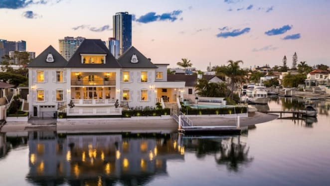 French chateau Buccaneer Court, Surfers Paradise trophy home sale
