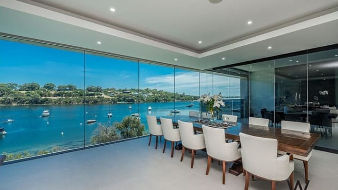 Riverside trophy home carved into Bicton, WA cliffside listed