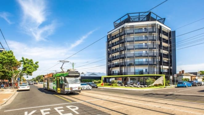 The cafe premises in The Blocktagon South Yarra listed for sale