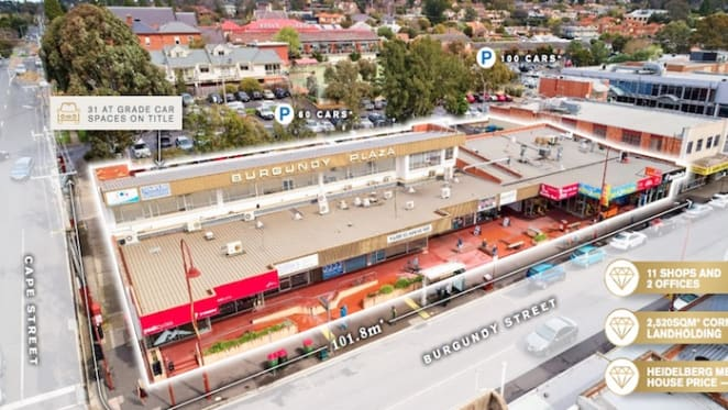 Melbourne retail landmark Burgundy Plaza sold to China group for $14.3 million