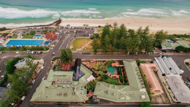 Beach Hotel in Byron Bay listed with $100 million expectations