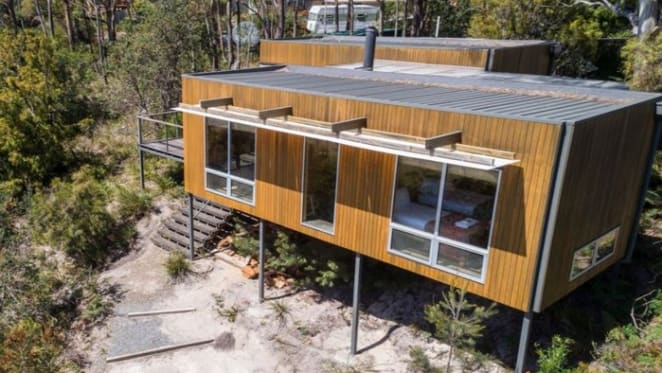 Actor Alison Whyte sells Bruny Island log cabin