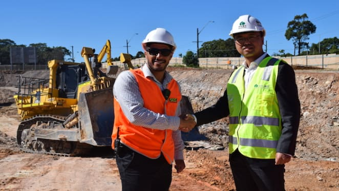 Early works begin at nbh at Lachan's Line, Macquarie Park