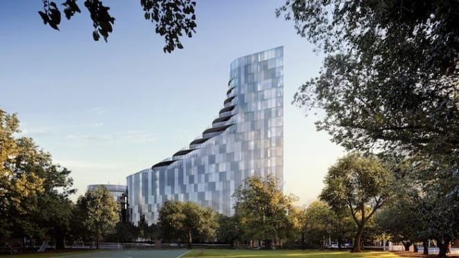 Architecturally-designed crystalline building approved in industrial Cremorne, Melbourne