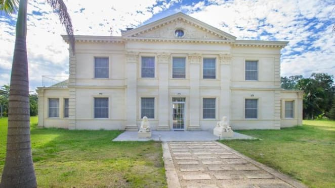 French classical-style Wallis Island house listed for $12 million