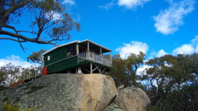 Single room timber cabin at Tallarook listed for auction