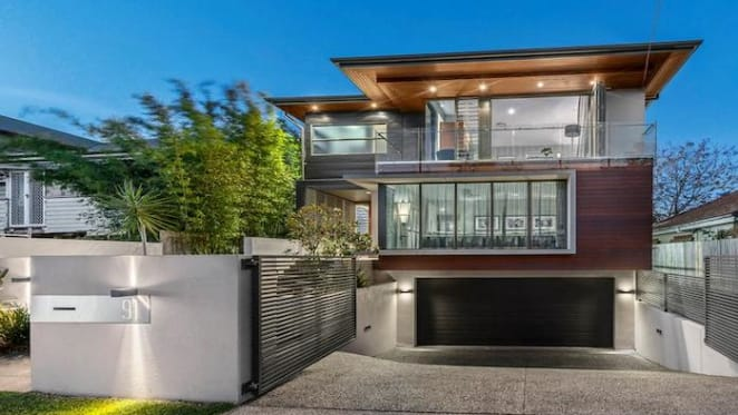 Hawthorne three level contemporary house listed for sale