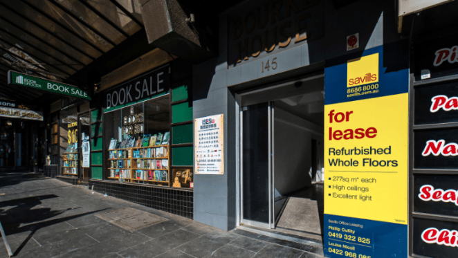 Hair salon leases space in Melbourne's busy Bourke Street