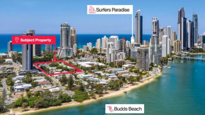Ralan's Budds Beach Sapphire twin tower development site listed by mortgagee