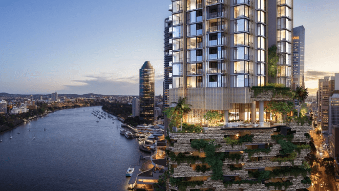 Cbus Property's 443 Queen Street, Brisbane project rated Australia's first 6 Star Green Star residential building