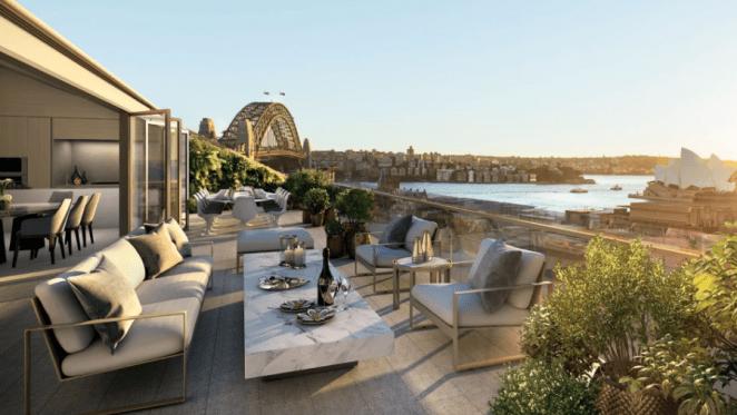 Near $40 million dollar penthouse in Sydney's The Rocks listed
