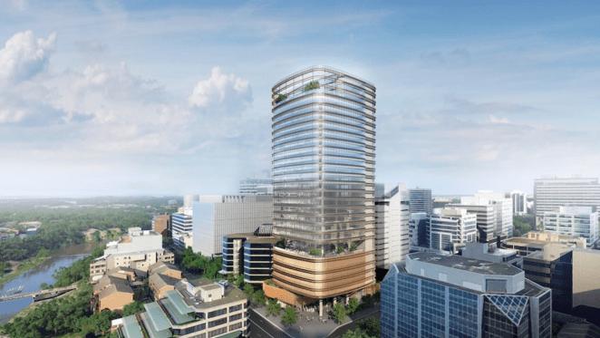 $320 million Parramatta commercial tower tops out