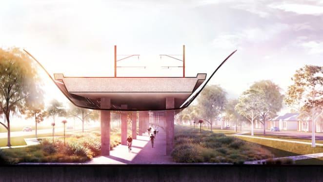 Concept design to disguise Melbourne's sky rail