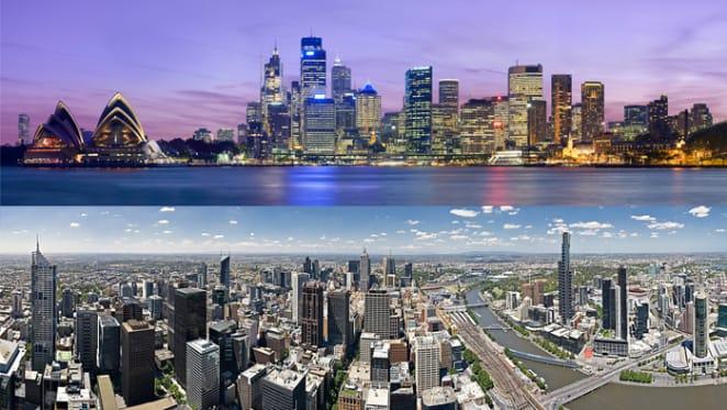 Melbourne and Sydney lead 1.8 per cent June quarter decline: ABS
