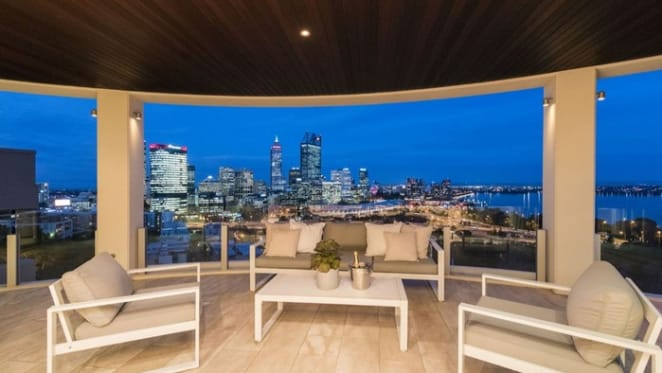 West Perth apartment of the late billionaire businessman Stan Perron listed