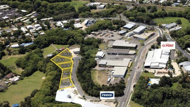 Industrial building lots at Nambour listed