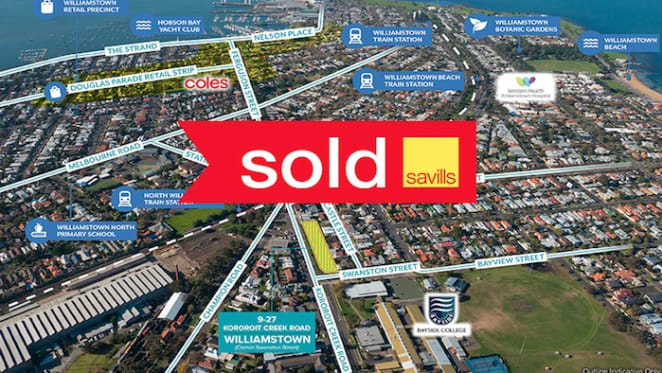 Savills sells Williamstown sites to Chinese national