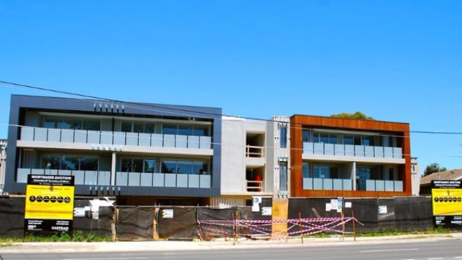 Incomplete apartments up for auction in mortgagee sale at Melbourne's Donvale