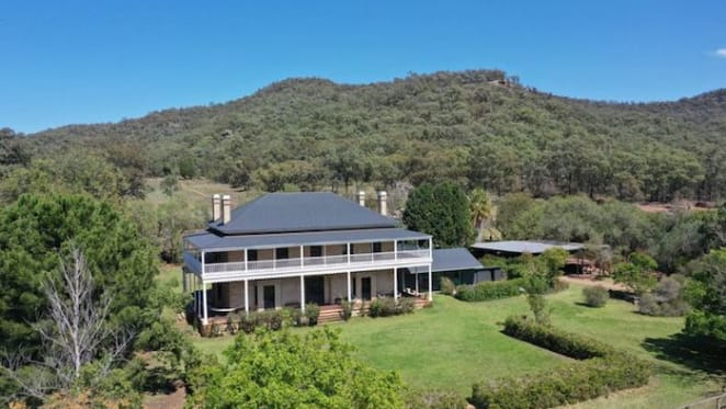Baerami House Farm in the Upper Hunter region listed for sale via online auction