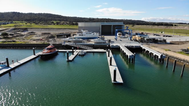 Victoria's newest dry-stack boatyard at Safety Beach completed