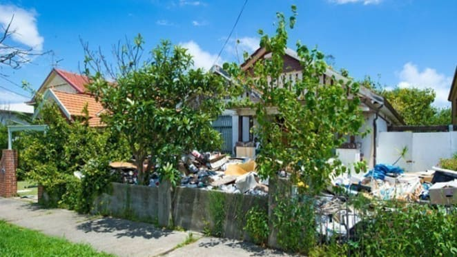 Bondi hoarders house up for auction for third time
