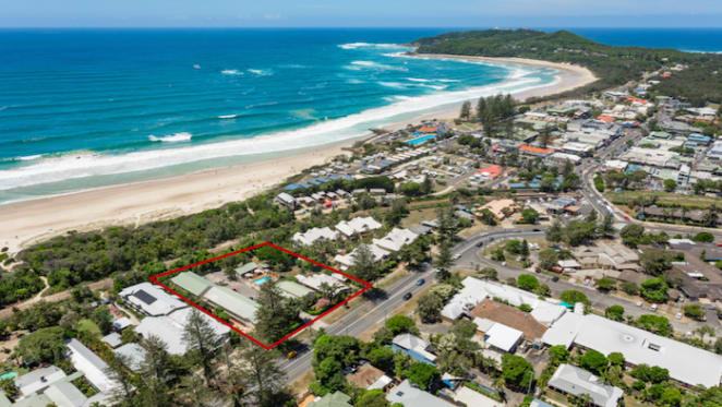 Development site listed in Byron Bay township