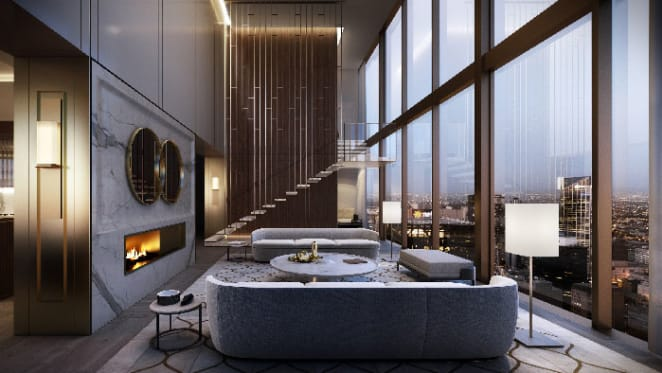 56th floor penthouse listed in Collins House