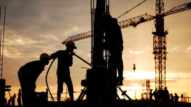 Construction work declines more than expected