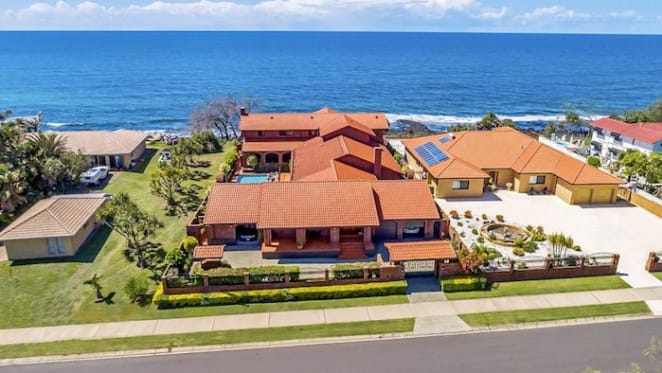 Oceanfront Coral Cove trophy home listed