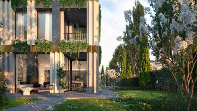 Courtyard apartments in new Kew development with very own putting green