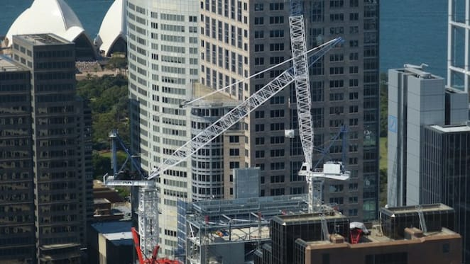 Sydney has over half the cranes in the sky nationally, but numbers easing