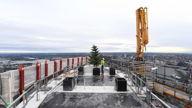 Crown Sydney tops out after four years in construction