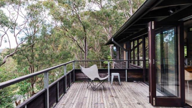 Design duo Karen McCartney and David Harrison list Dangar Island retreat